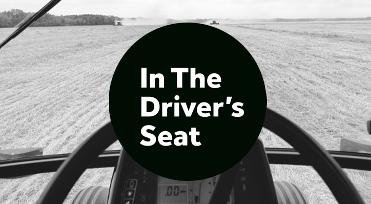 'In the Driver's Seat' podcast artwork