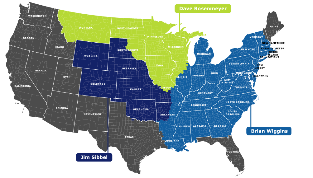 Crop Risk Services Specialist Territory Map